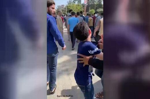 ببینید | گریه های بی امان کودک فلسطینی برای از دست دادن پدرش