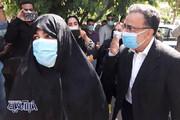 تصاویر   مصطفی تاجزاده خبرساز با همسرش برای کاندیداتوری آمد