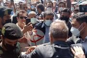 ببینید | درگیری طرفداران ضرغامی با نیروهای انتظامی هنگام ورود وی به وزارت کشور