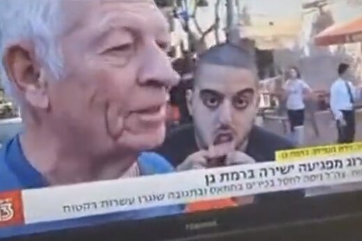 ببینید | شکلک درآوردن عجیب یک صهیونیست در پخش زنده تلویزیون!