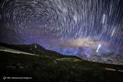 تصاویر | آسمان حیرت انگیز در شب