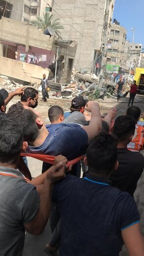 گزارش تصویری جنایت امروز رژیم صهیونیستی در غزه
