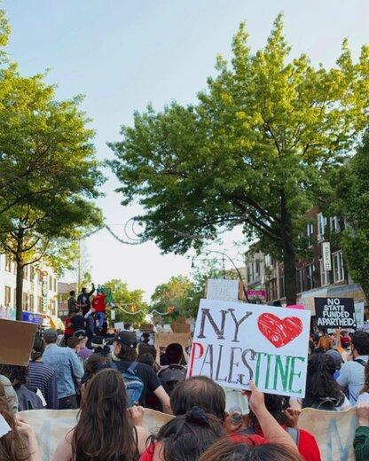 حمایت سلبریتی معروف اینستاگرام از فلسطین