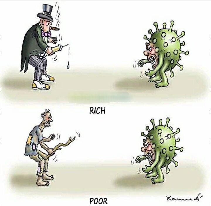 تفاوت مبارزهای فقرا و ثروتمندان با کرونا را ببینید!