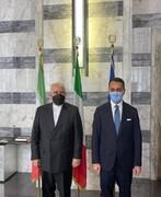 وزيرا الخارجية الإيراني والإيطالي يؤكدان ضرورة توسيع التعاون الثنائي