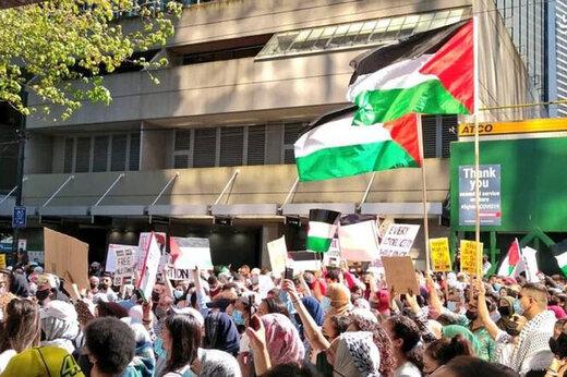 ببینید | درگیری در تظاهرات در حمایت از فلسطین در کانادا