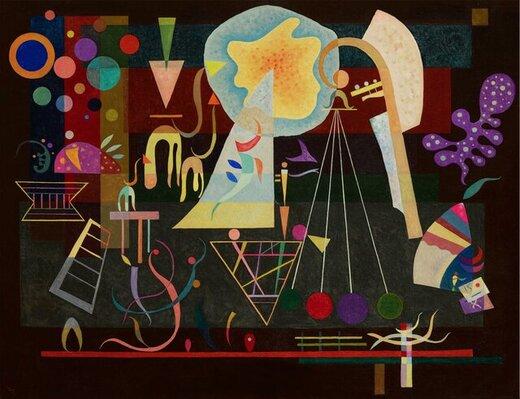 نمایش نقاشی کمتردیده شده از کاندینسکی در دبی