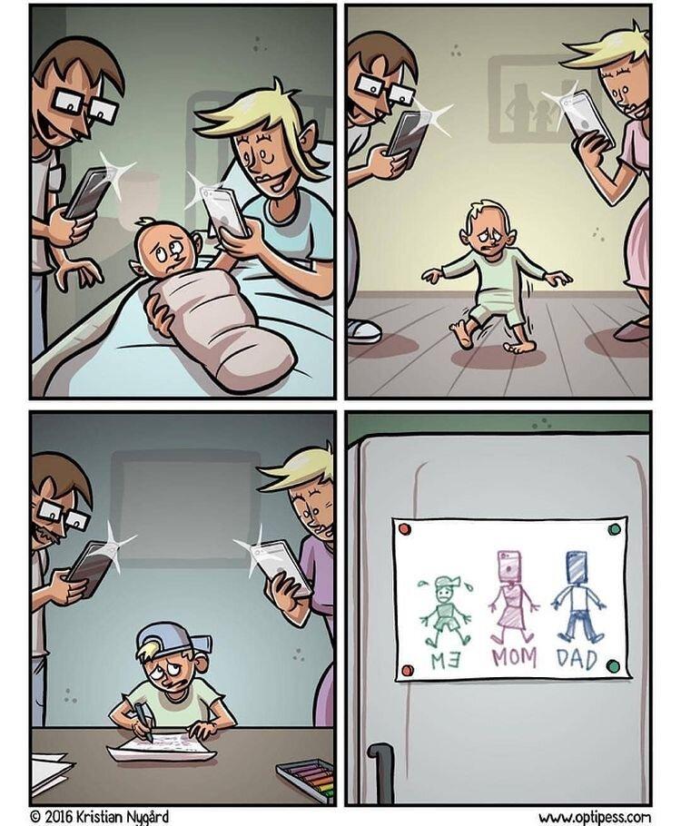 اینم تصور بچه های امروزی از پدر و مادر!
