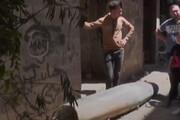 ببینید | بمب عمل نکرده جنگندههای رژیم صهیونیستی در غزه