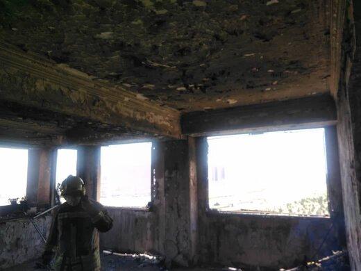 آتشسوزی برج مسکونی ده طبقه در غرب تهران