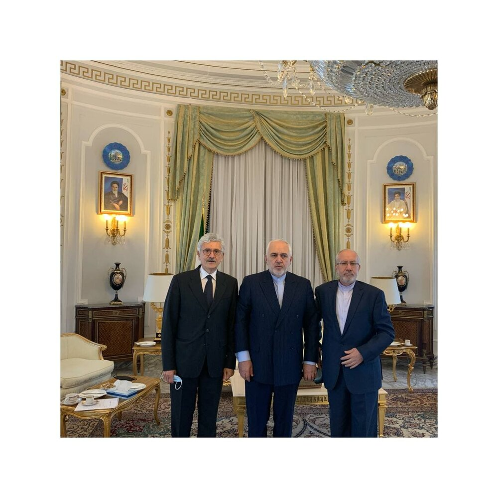 ظریف به دیدار نخستوزیر اسبق ایتالیا رفت/عکس