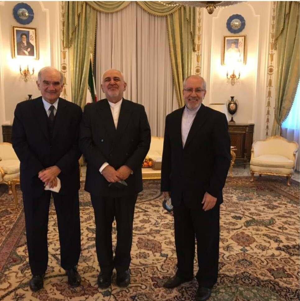 ظریف با رئیس جدید اتاق بازرگانی مشترک ایتالیا و ایران دیدار کرد/عکس