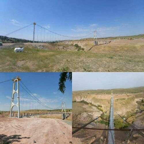 افتتاح پل کابلی قزوین
