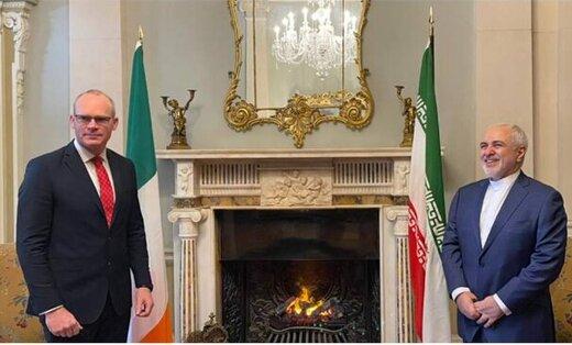 دیدار ظریف با همتای ایرلندی/عکس