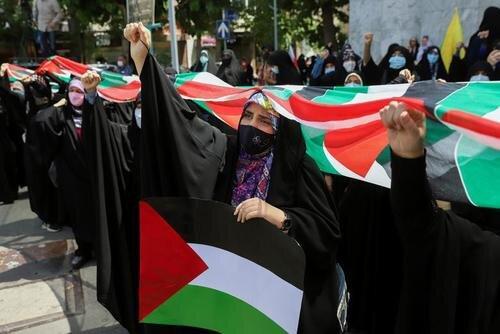 تظاهرات حمایت از فلسطین در تهران