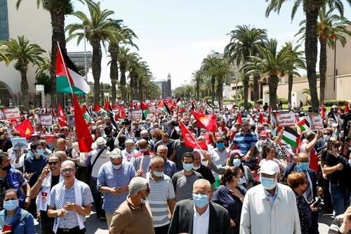 تظاهرات حمایت از فلسطین در تونس