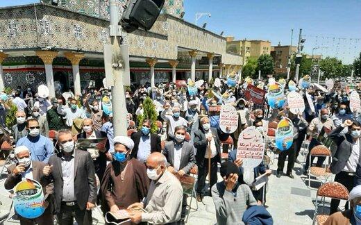 اجتماع مردم همدان در حمایت از مردم مظلوم فلسطین