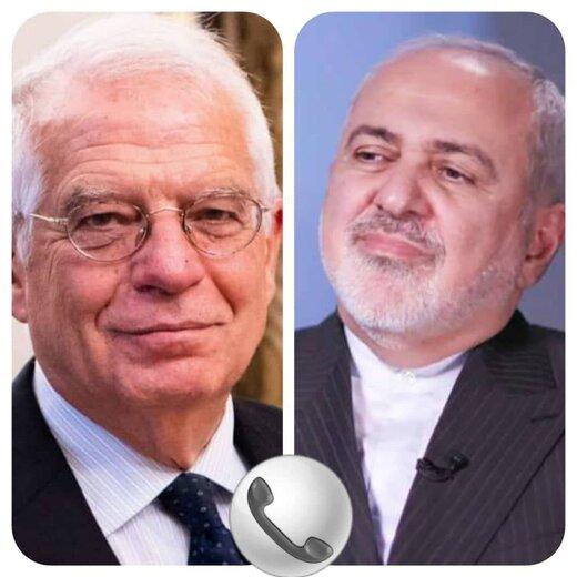 ظریف در گفتگو با بورل: تداوم تحریمهای آمریکا قابل قبول نیست