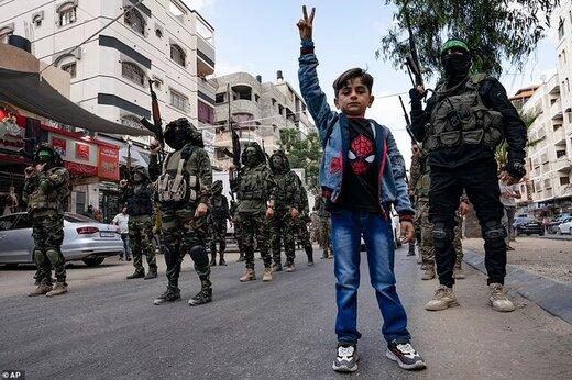 گردانهای عزالدین القسام اینگونه اسرائیل را تهدید کرد/عکس