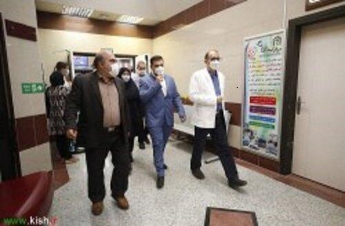 اهتمام سازمان منطقه آزاد کیش بر توجه ویژه به امور کارکنان بیمارستان کیش