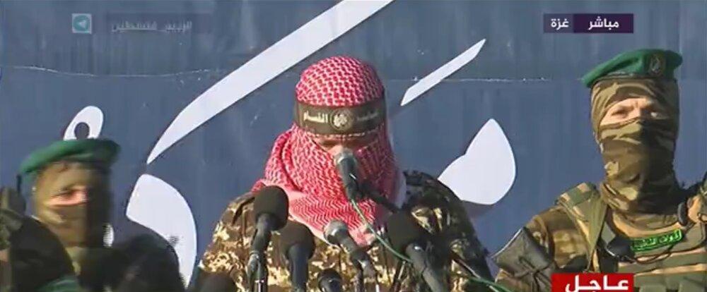 گردانهای القسام اسرائیل را تهدید کرد؛السنوار در انظار عمومی ظاهر شد/عکس