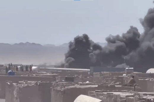 ببینید | آتش سوزی در گمرک مرزی افغانستان با ایران