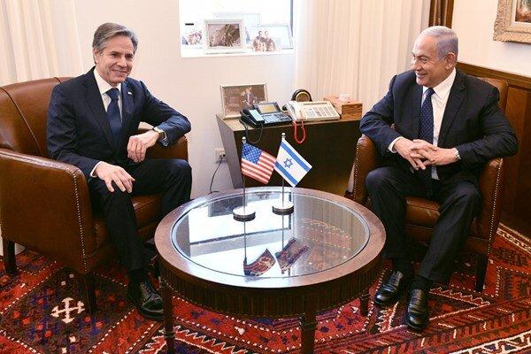 دیدار گرم بلینکن با نتانیاهو/عکس