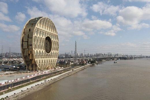 ببینید | نمایی حیرتانگیز از بلندترین ساختمان گرد جهان در چین