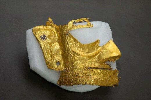 ببینید | کشف ماسک طلای 3 هزار ساله در چین