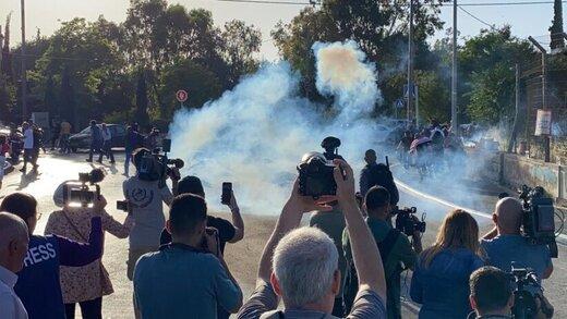 رژیم صهیونیستی تظاهرات قدس را سرکوب کرد