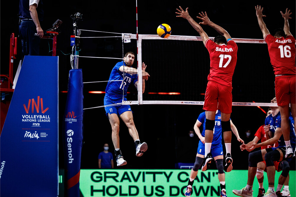 Iran lose 3-1 to Russia at FIVB Volleyball Nations League