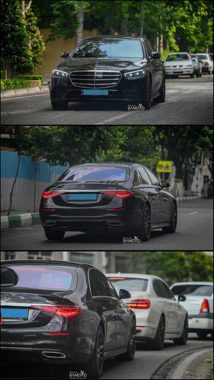 عکس   ویراژ نسل جدید بنز S500 در خیابانهای تهران