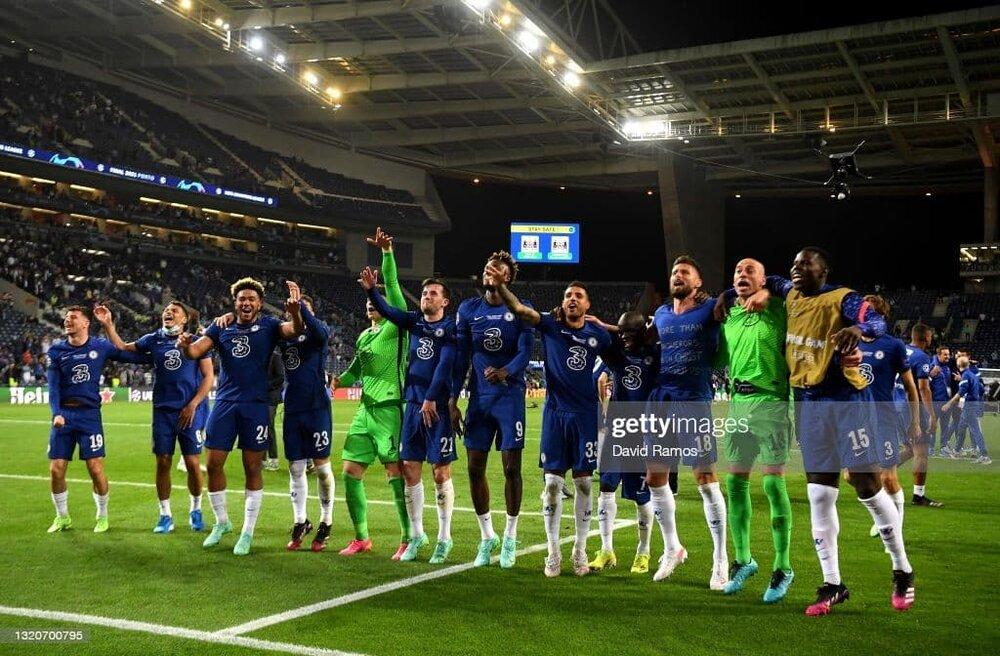 جشن قهرمانی چلسی در اروپا/عکس