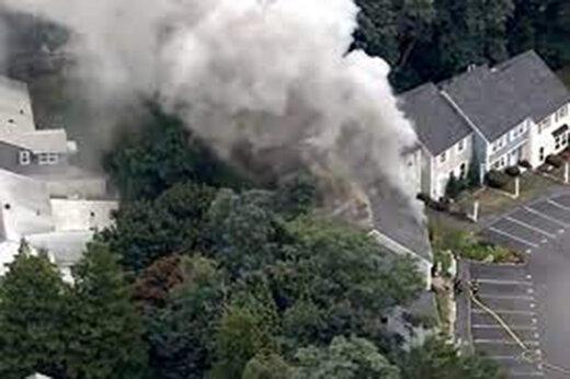 ببینید | خرابکاری و آتشسوزی در ماساچوست آمریکا؛ تخلیه خانههای مسکونی