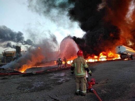 هلال احمر: آتشسوزی در پالایشگاه تهران مصدوم نداشته است