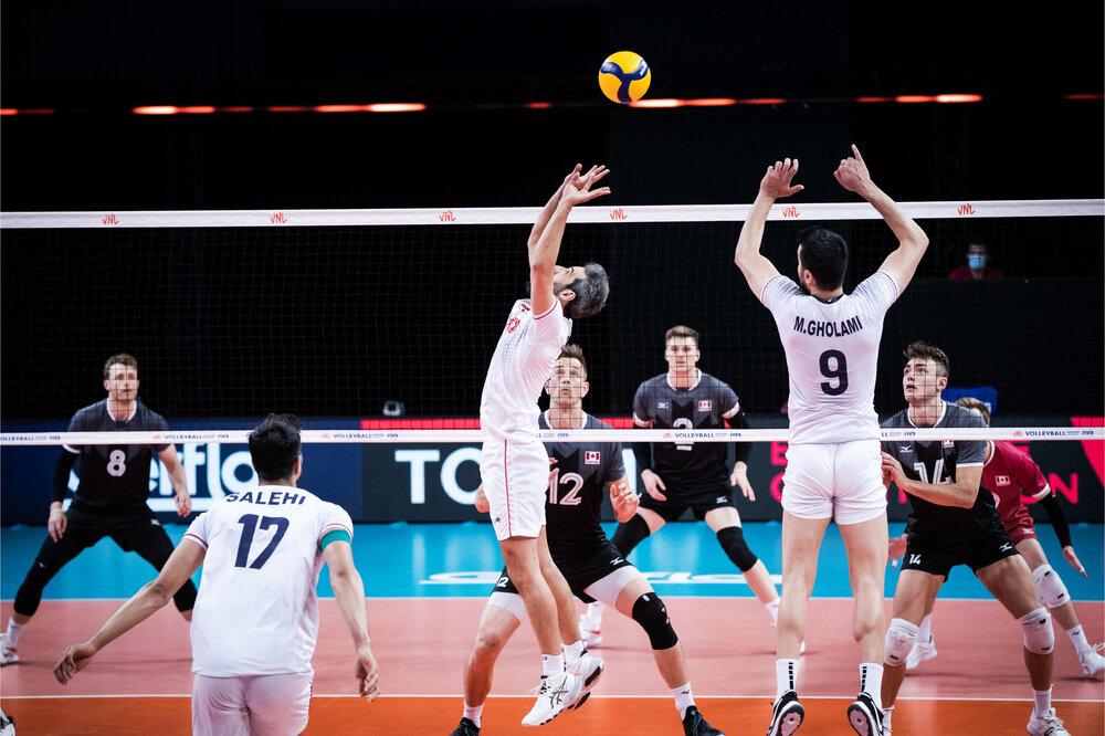 کانادا دومین قربانی تیم ملی والیبال ایران