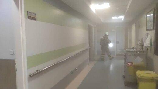 آتش سوزی وحشتناک در بیمارستان 7 طبقه یوسف آباد تهران/ بیماران در خطر خفگی با دود!