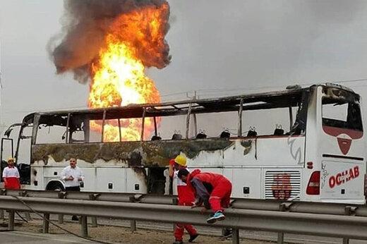 فاجعه در یزد/ تصادف مرگبار اتوبوس با ۵ کشته و ۳۹ زخمی