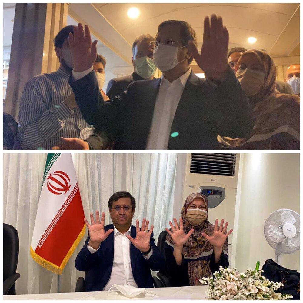 عکس | تصویر ویژه همتی برای کمپین انتخاباتیاش؛ بشمار ده