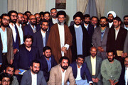 عکس |  تصویری منتشرنشده از حجتالاسلام محتشمیپور آیتالله خامنهای