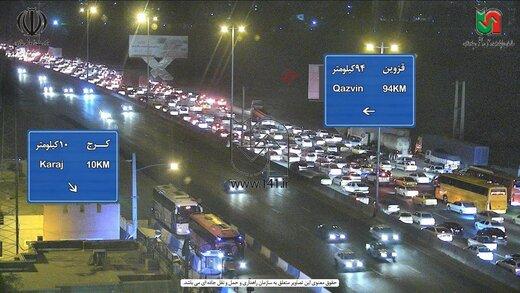 حجم خودروها در مبادی ورودی به تهران