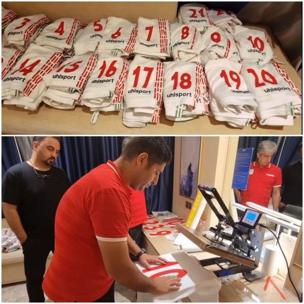 آماده سازی پیراهن ملیپوشان برای بازی بحرین/عکس