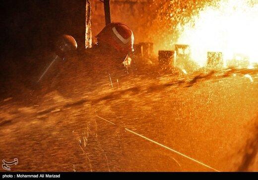 آتش سوزی کارگاه شارژ سیلندرهای گاز مایع-قم