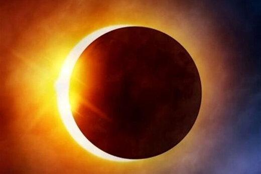 ببینید | تصاویری دیدنی از خورشید گرفتگی امروز