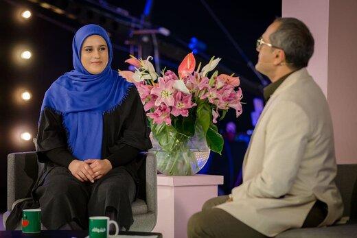 اولین زن وزنهبردار مدالآور ایرانی در جهان مهمان «خندوانه»/عکس