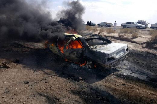 ببینید |  آتش سوزی خودرو پژو پارس در اتوبان آزادگان