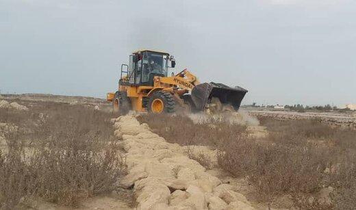رفع تصرف ۱۹.۴هزار مترمربع  اراضی خالصه دولتی به ارزش ۱۹.۴میلیارد ریال در روستای کردوا قشم