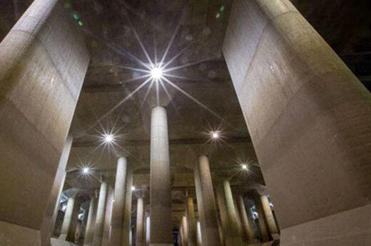 ببینید | ساخت مخازن بزرگ زیر شهر توکیو برای ذخیره آب باران