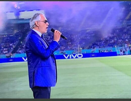 ببینید | مراسم افتتاحیه  یورو ٢٠٢٠ با آواز آندرهآ بوچلی