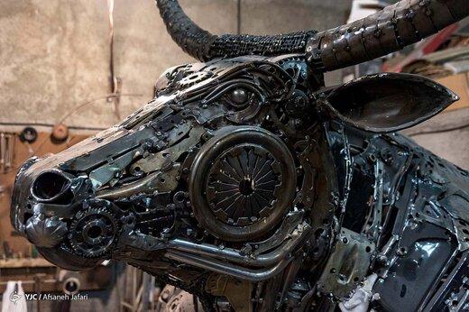 مجسمه سازی با ضایعات فلزی